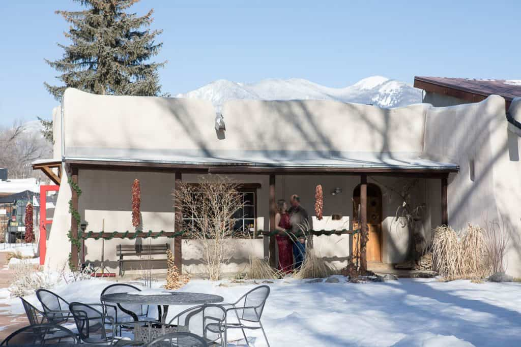 A New Mexico marriage at the  Fechin House in Taos