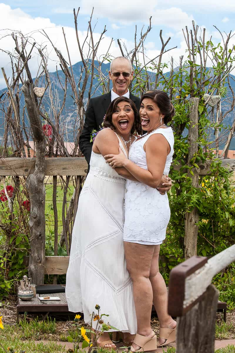 Laughter at the end of a highly emotional wedding ceremony is the perfect way to set the mood for the reception.