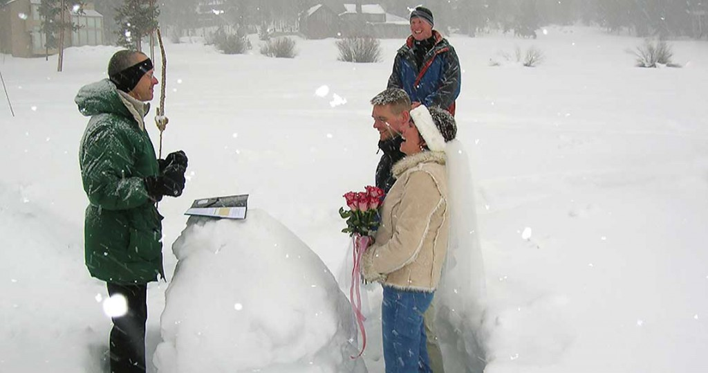 A blizzard wedding at Keystone.