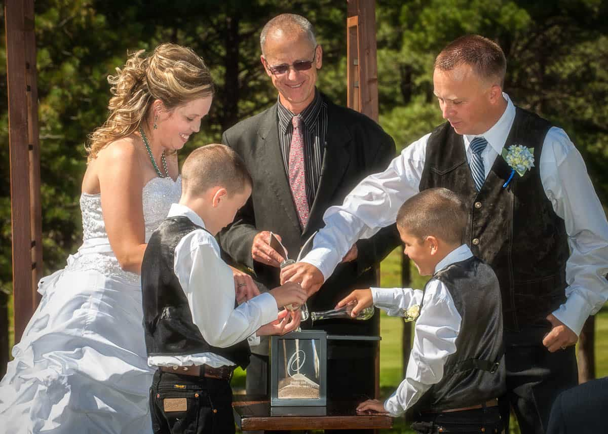 Wedding officiant services include crafting unique services that include every member of the family.