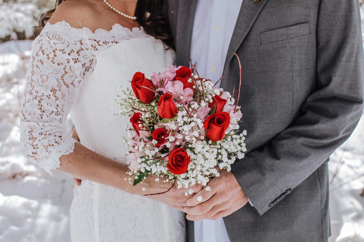 A fresh bouquet was part of this couple's elopement wedding package