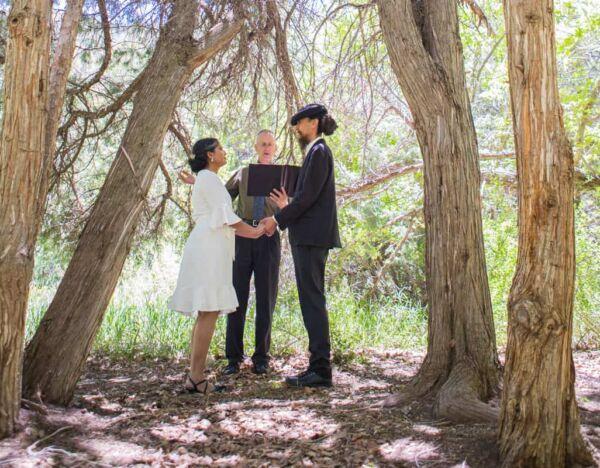 Streamside elopement at El Nogal Campground
