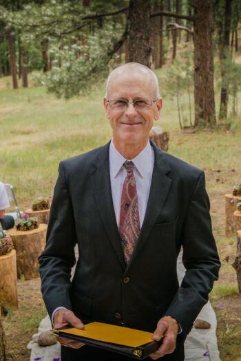 Wedding officiant Dan Jones