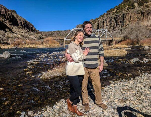 Eloping at the John Dunn Bridge at the confluence of the Rio Grande and Rio Hondo north of Taos.