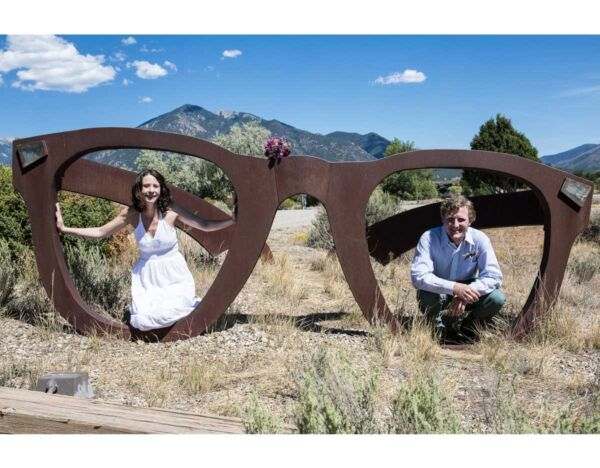 Unique wedding photo opportunity at the Bareiss Gallery