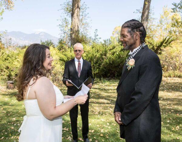 Dan officiating a wedding at Hacienda del Sol