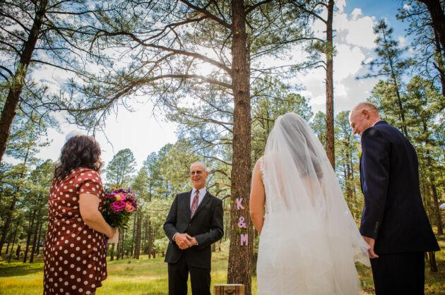 A little light-heartedness at a wedding officiated by Dan Jones
