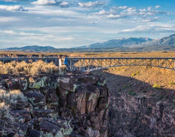 On the edge of the Rio Grande gorge by the famous gorge bridge