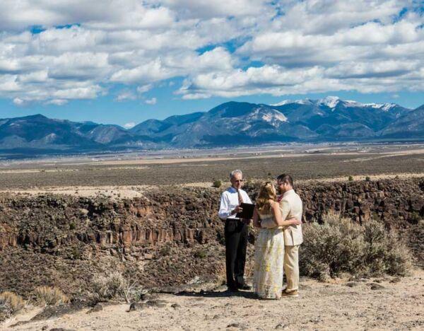 A wedding in the splendor of the Rio Grande Gorge
