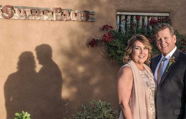 romantic shadows in a wedding photo taken at SpiriTaos