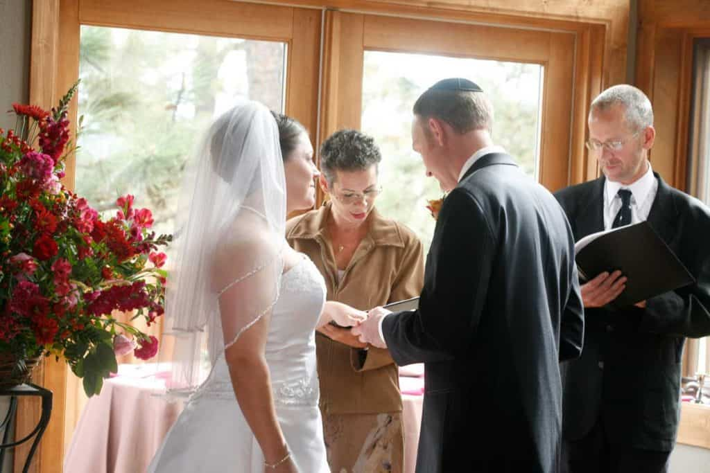 co-officiating a wedding ceremony