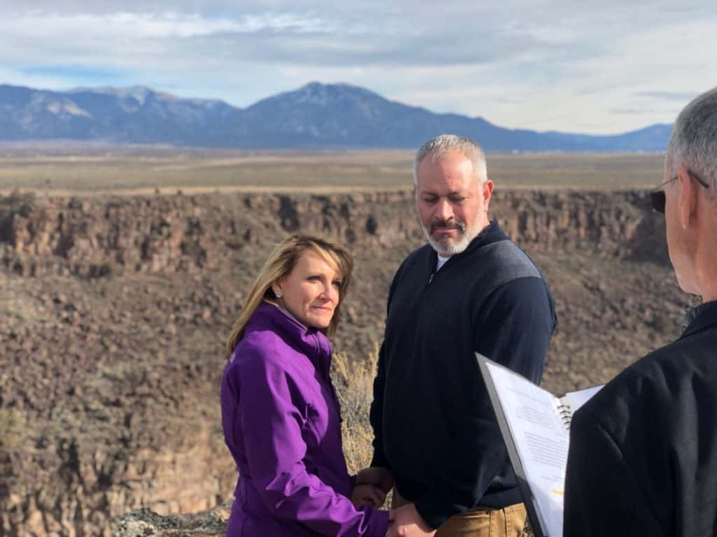 Rio Grande Gorge is a favorite spot for Taos elopements