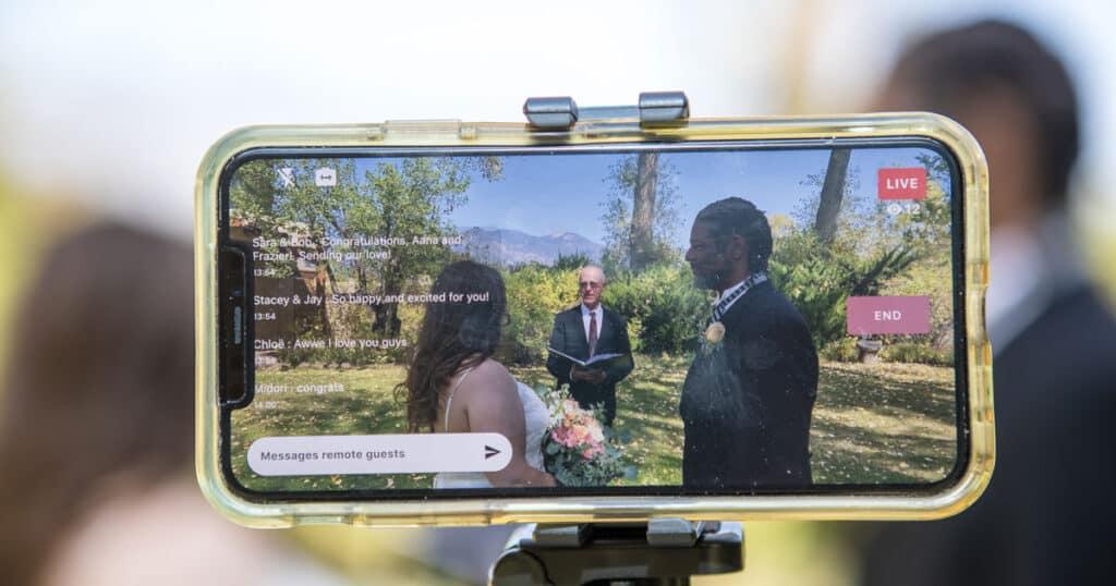Livestreaming a Covid wedding
