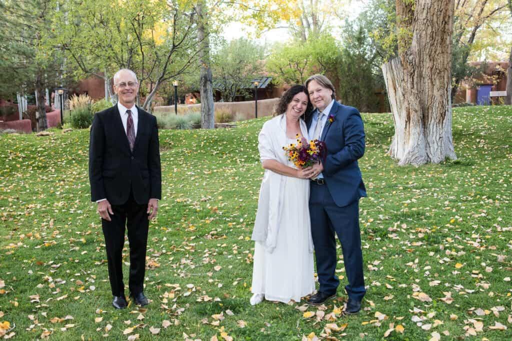 A socially-distanced wedding at El Monte Sagrado