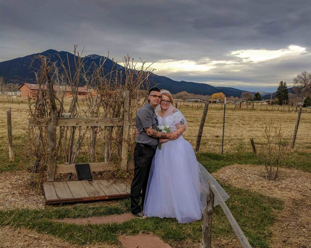 Early spring elopement in the shadow of sacred Taos Mountain