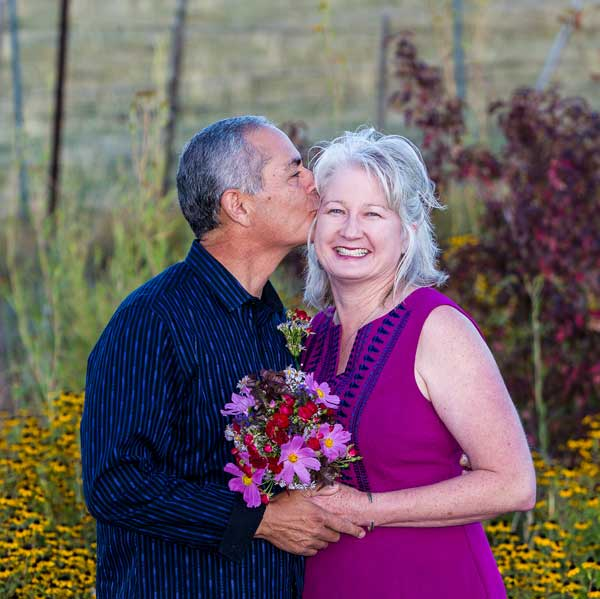 Happy couple after their Taos Elopement with officiant Dan Jones